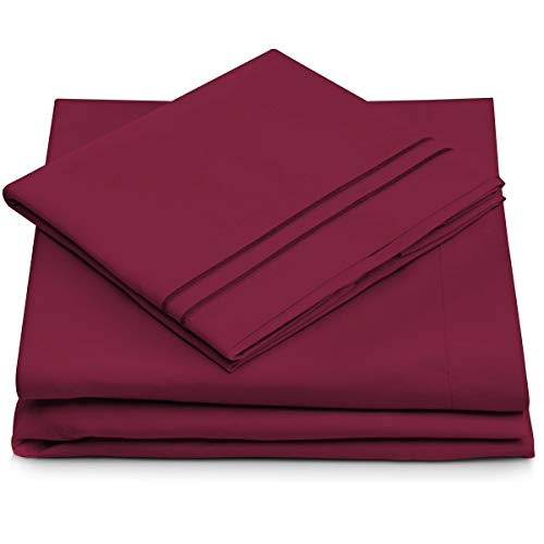 Cosy House Collection King Size Bed Sheets - Fuchsia