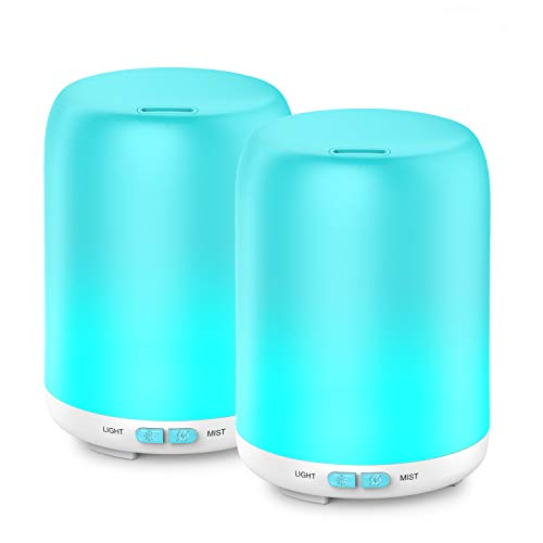 Essential Oil Diffuser, 2 Pack Aroma Diffuser Ultrasonic Cool