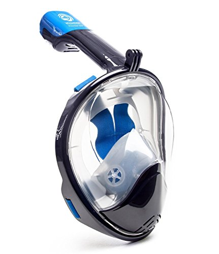 WildHorn Outfitters Seaview 180 Degree Panoramic Snorkel Mask- Full