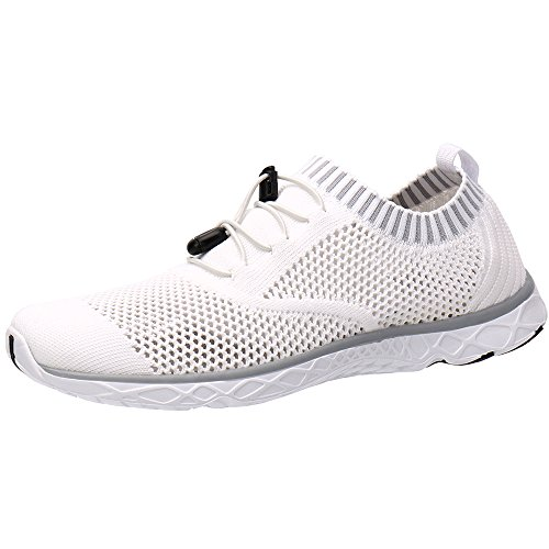 ALEADER Men's Adventure Aquatic Water Shoes White/Gray 8.5 D(M)