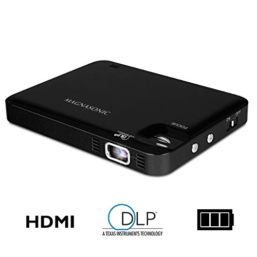 Magnasonic LED Pocket Pico Video Projector, HDMI, Rechargeable Battery