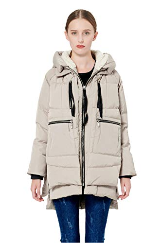 Orolay Women's Thickened Down Jacket Beige M