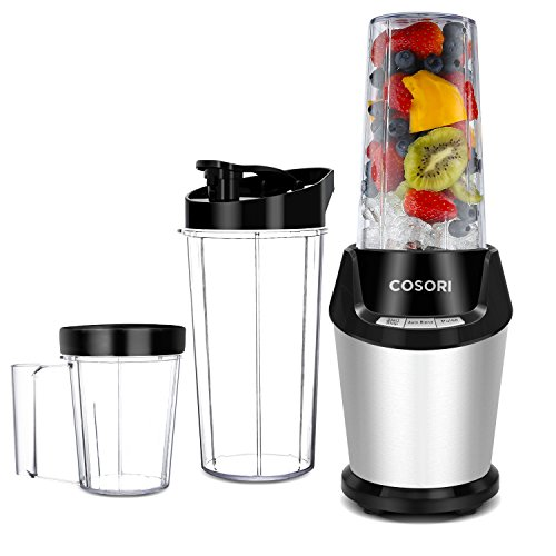 Cosori Personal Blender, 10-Piece with Cleaning Brush, Cups, and