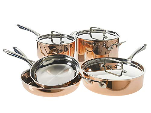 Cuisinart TCP-8 cookware-Sets, 8-Piece Copper Tri-Ply