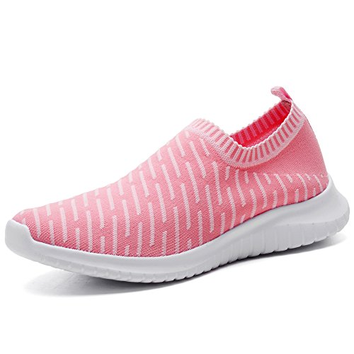 TIOSEBON Women's Walking Shoes Lightweight Mesh Slip-on- Breathable Running