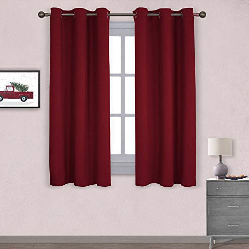 NICETOWN Thermal Insulated Solid Grommet Blackout Curtains/Drapes for Christmas