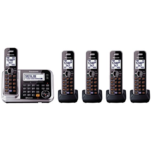 Panasonic KX-TG7875S Link2Cell Bluetooth Cordless Phone with Enhanced Noise