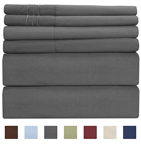 California King Size Sheet Set - 6 Piece Set