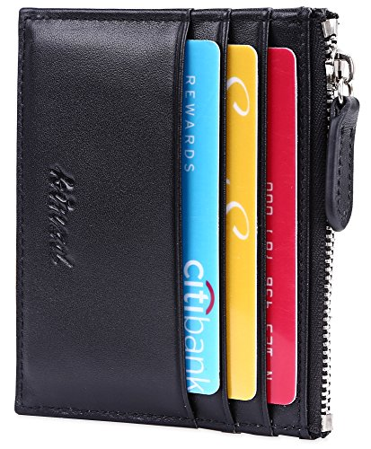 Slim Card Wallet with ID window Card Holder with