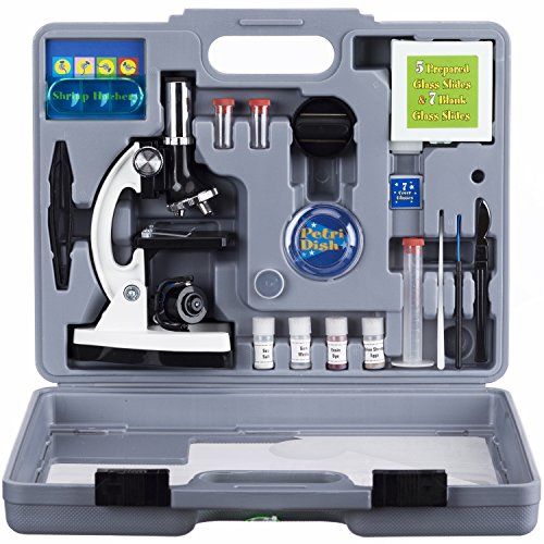 AMSCOPE-KIDS M30-ABS-KT2-W Microscope Kit with Metal Arm and Base