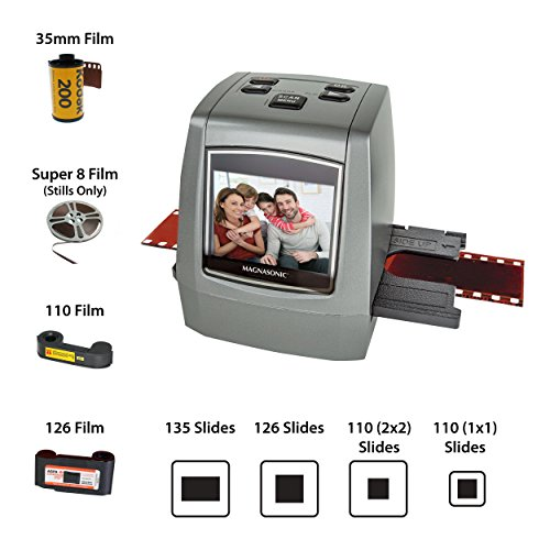 Magnasonic All-in-One High Resolution 22MP Film Scanner, Converts 126KPK/135/110/Super