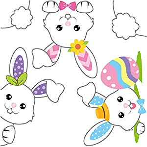 Amazon Giveaway Easter Bunnies Window Clings Stickers...