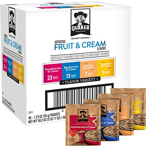 Quaker Instant Oatmeal Fruit and Cream Variety Pack, Breakfast