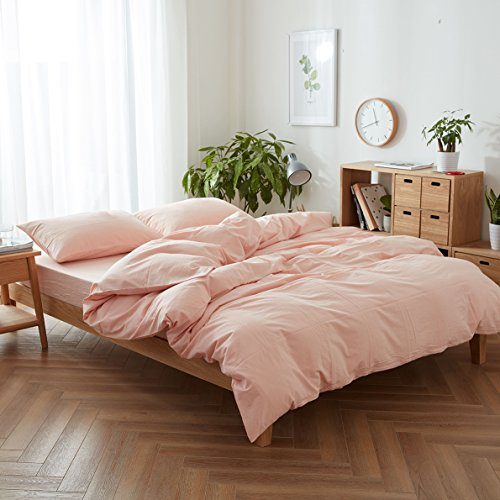 FACE TWO FACE 3-Piece Duvet Cover Queen,100% Washed Cotton