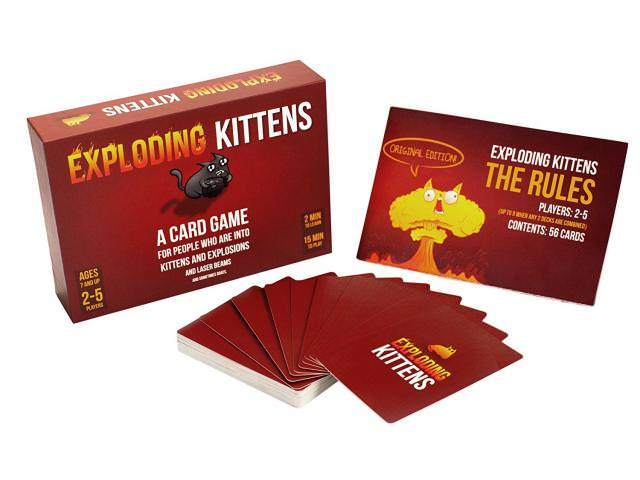 Free Exploding Kittens Card Game!
