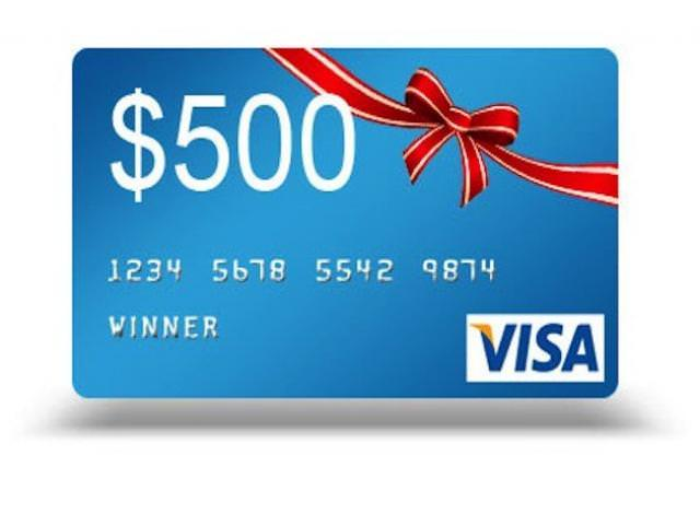 Free $500 VISA Gift Card From Winston!