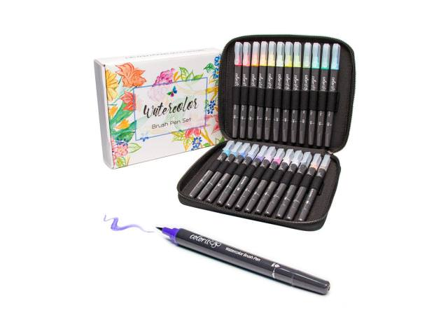 Free ColorIt Refillable Watercolor Brush Pens Set!