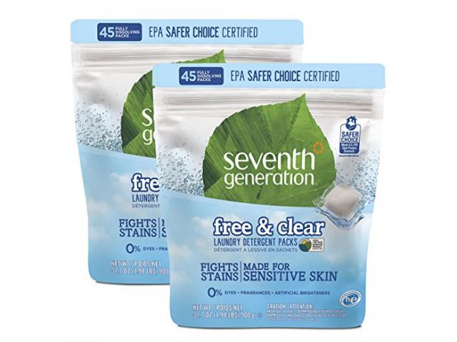 Free Seventh Generation Free & Clear Laundry Detergent Packs!