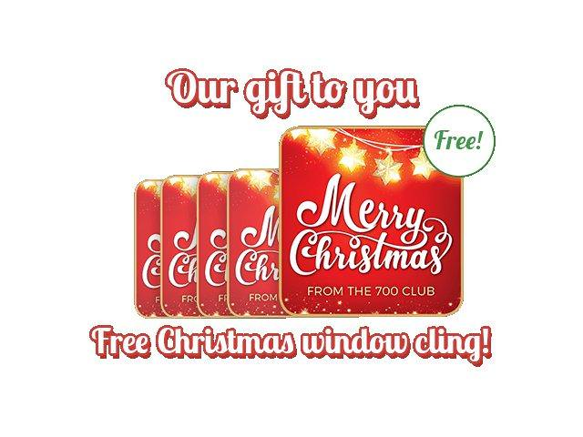 Free Merry Christmas Window Cling!