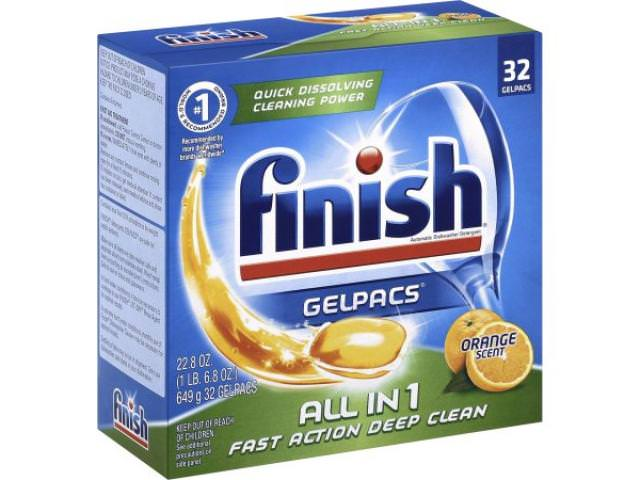 Free Finish All In 1 Dishwasher Detergent Gelpacs 32 Count!