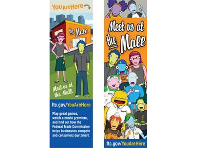 Free You Are Here Bookmark!