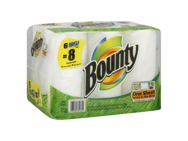 Free Pack Of 6 Bounty Super Roll Paper Towels!