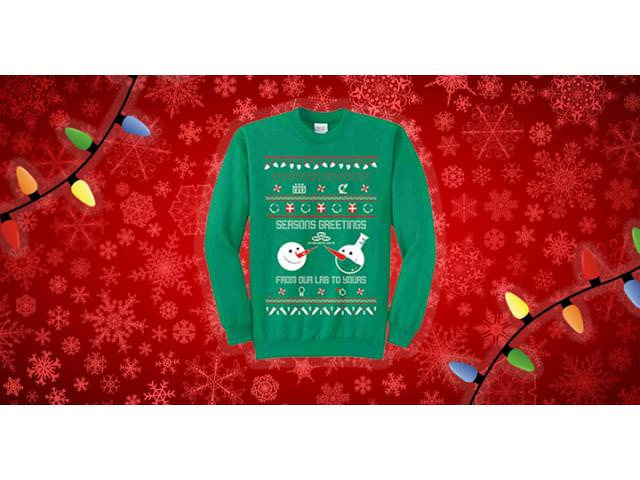 Free Seasons Greeting Science Sweater!