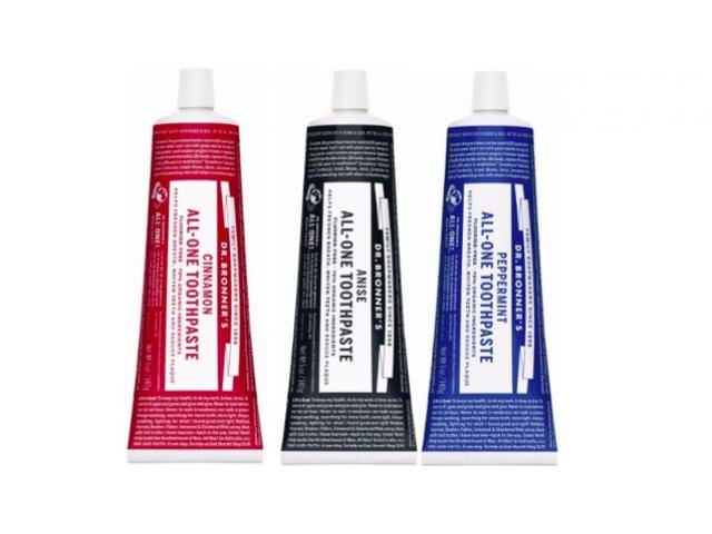 Free Dr. Bronner's All-One Toothpaste!