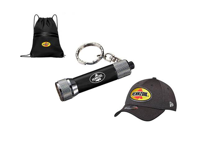 Free Pennzoil Backpack, Flashlight, Keychains And More!