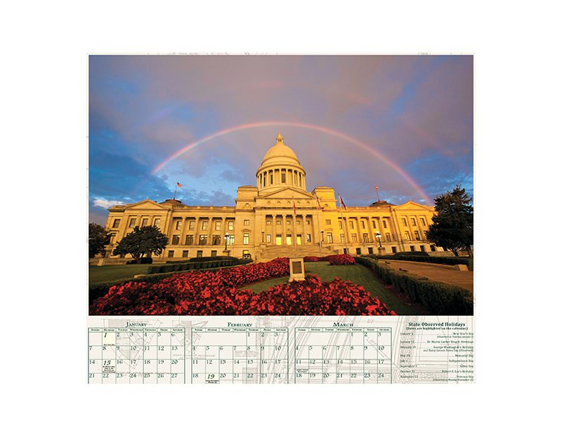 Free Arkansas 2019 Wall Calendar!