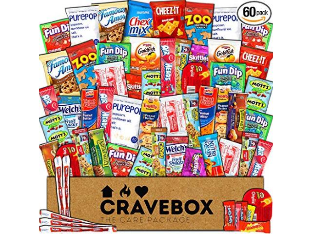 Free CraveBox - Deluxe Care Package Snack Box (60 Count)!