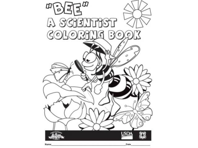Free Bee A Scientist Coloring Book 1-2!