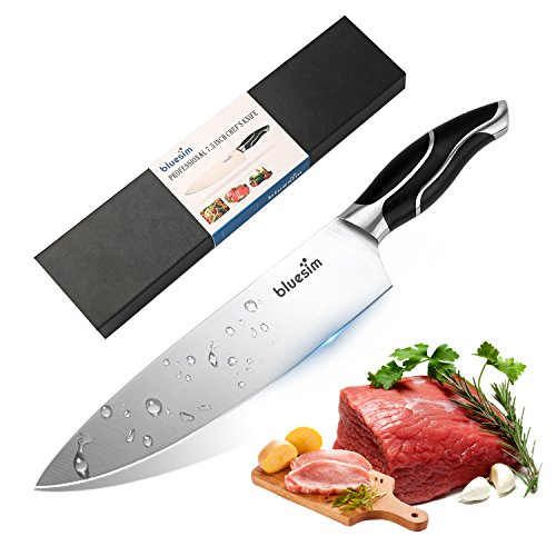 Bluesim Chef's Knife,Stainless Steel 7.5 inch Sharp High Carbon