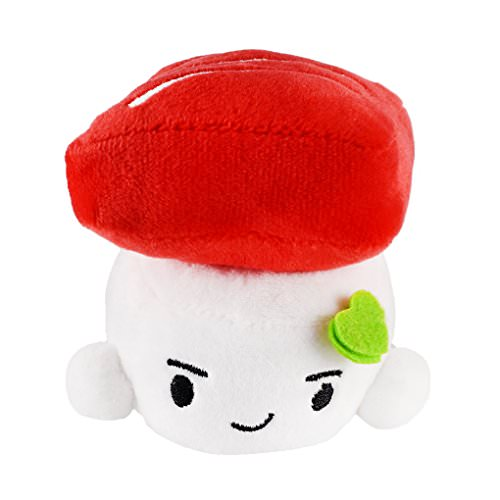 Free Soft Sushi Plush Tuna, Small, 4 inches (10 cm)