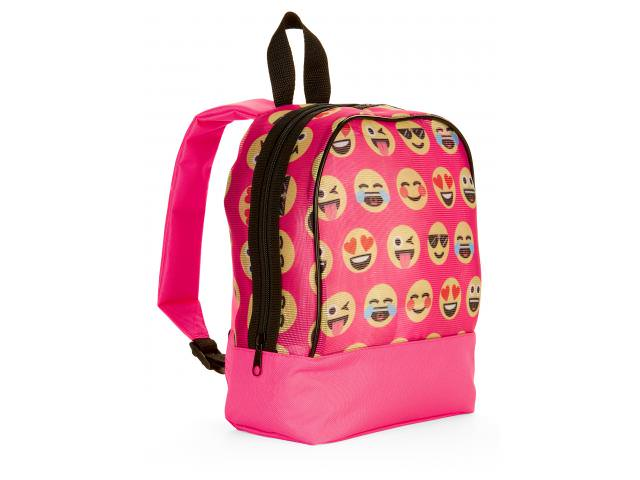 Free Emoji Faces Mesh Mini Backpack!
