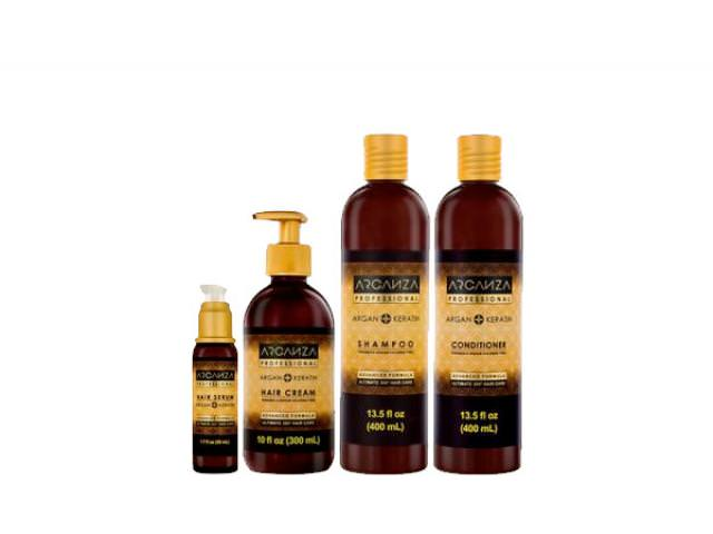 Free Arganza Shampoo, Hair Mask And Hair Serum!