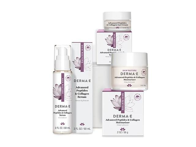 Free DERMA-E Advanced Peptides and Collagen Serum + Moisturizer!