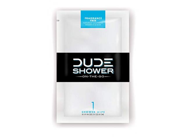 Free Shower Body Wipes By DUDE!