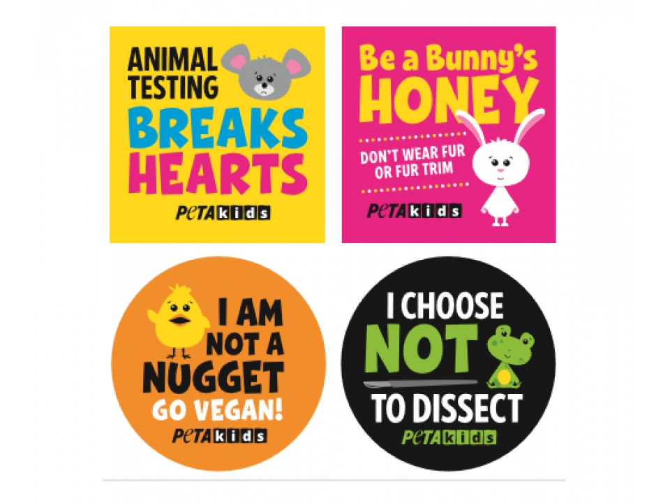 Free Kids Stickers By PETA!