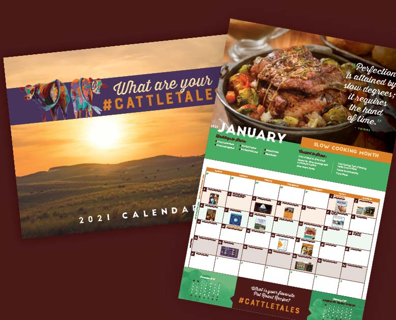 Free 2021 Wall Calendar From Cattletales