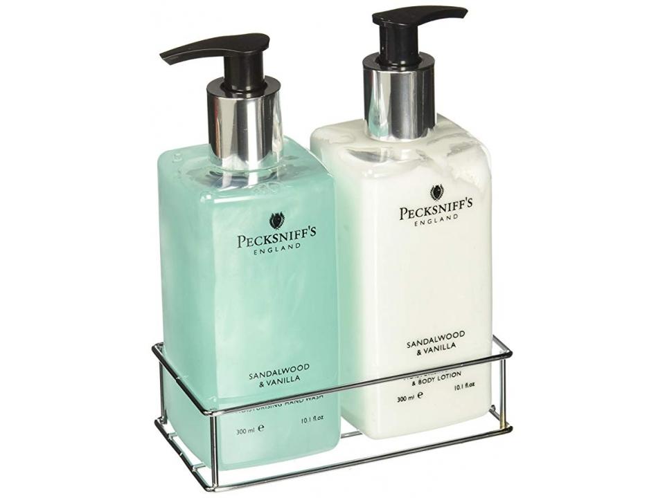 Free Pecksniff's Sandalwood & Vanilla Hand Wash & Body Lotion Set (Full Size!)