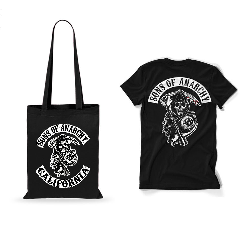 Free Sons of Anarchy T-Shirt+Tote Bag
