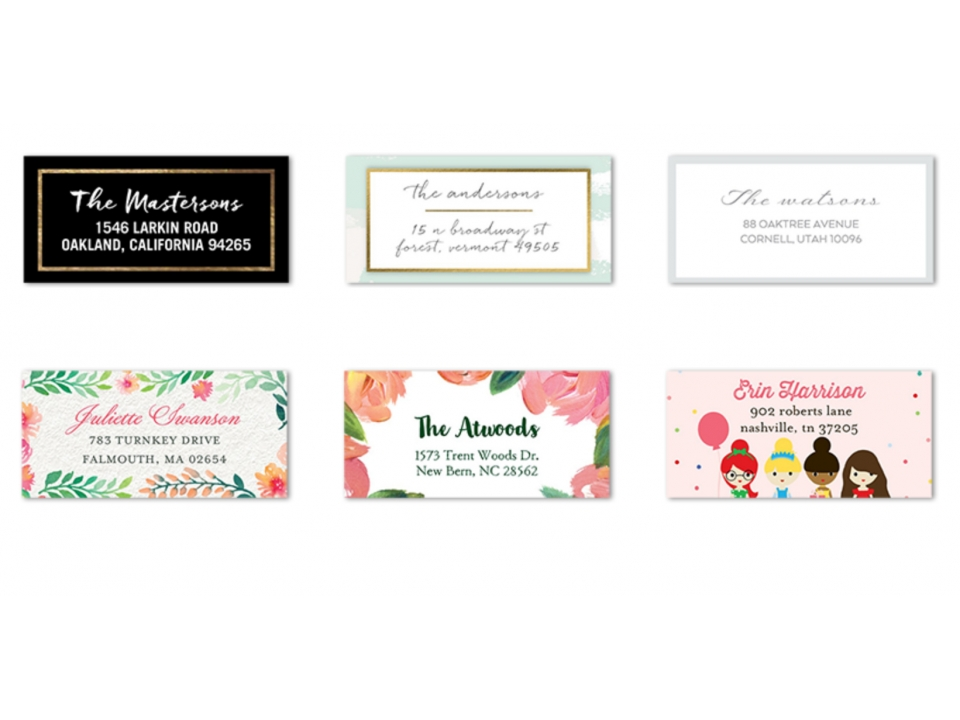 Free Address Label Pack From Tiny Prints
