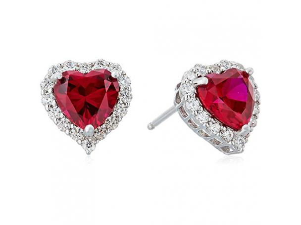 Free Platinum Plated Sterling Silver Earrings With Swarovski Zirconia Accents!