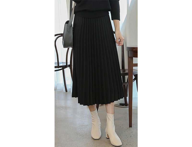 Free Wool Pleated Skirt From Canmart