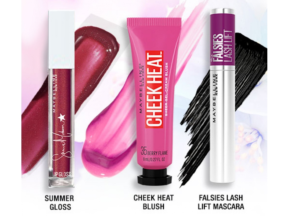 Free Maybelline Blush+Gloss+Falsies Lash Lift Mascara