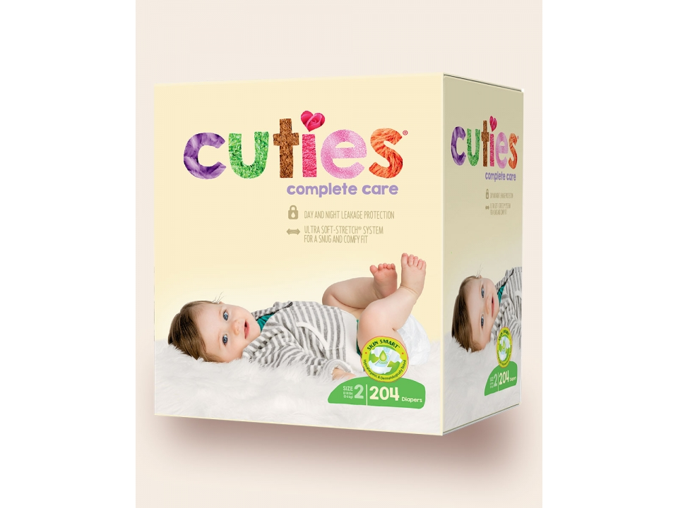 Free Cuties Complete Care Baby Diaper
