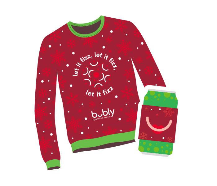 Free Koozie+Sweater From Bubly