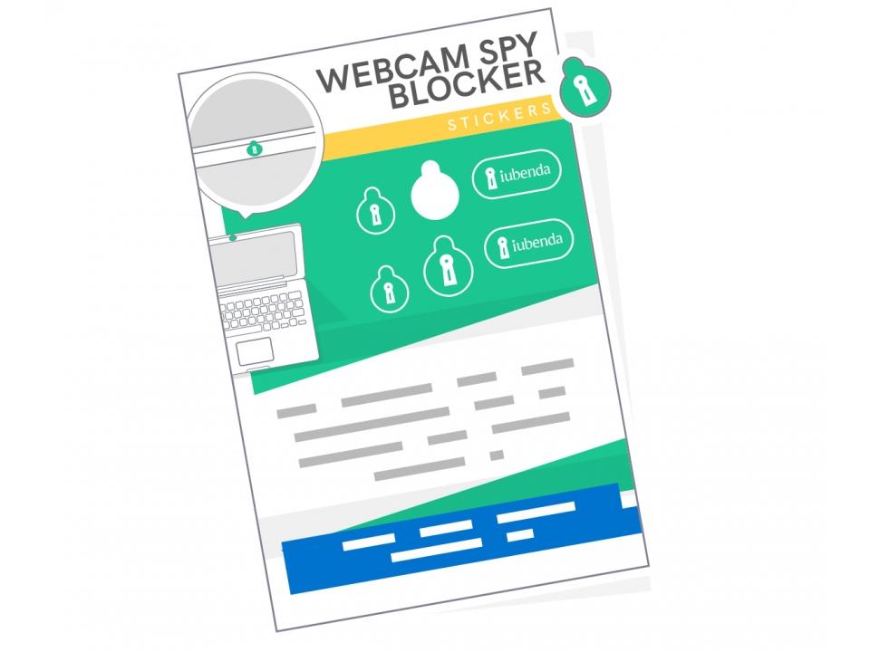 Free Webcam Spy Blocker Sticker From iubenda