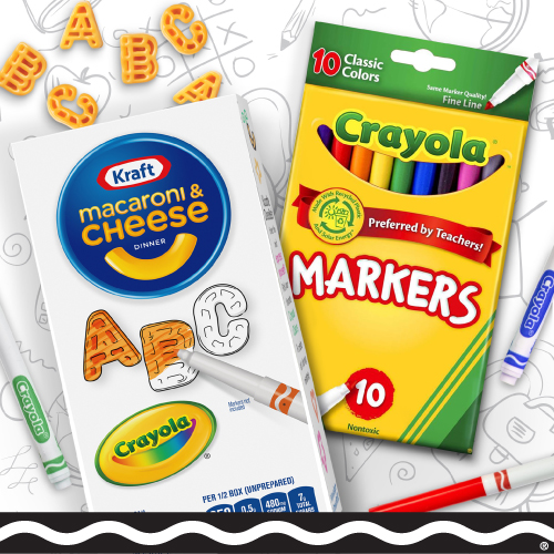 Free Pack Of 10 Crayola Markers From Kraft
